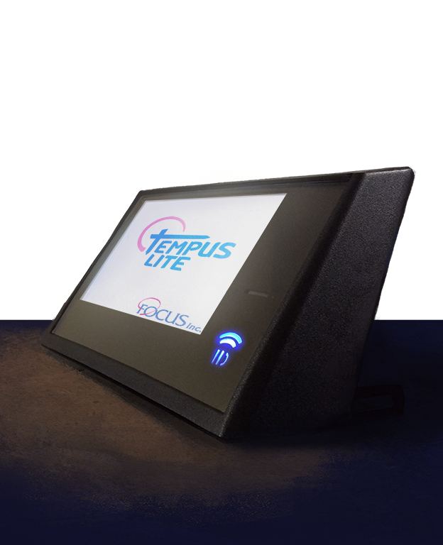 A customizable data collection terminal designed and produced by Focus, called the Tempus Lite